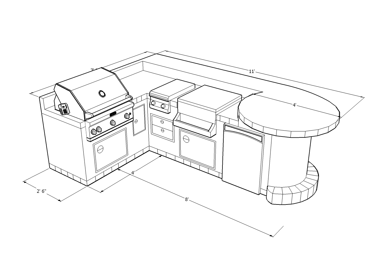 Outdoor kitchen designs idea 39 s las vegas outdoor kitchen for Outdoor kitchen blueprints
