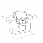 1700 Series Barbecue Island Design With Rounded Edges