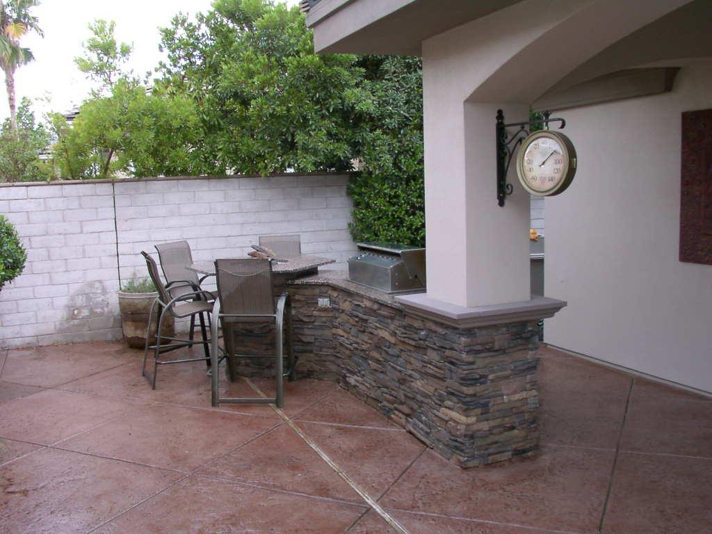 Integrated Custom Outdoor Kitchen Las Vegas Outdoor Kitchen
