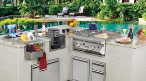 Barbecue Island with Twin Eagles Barbecue and Accessories