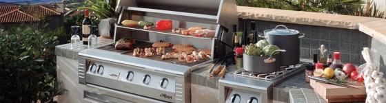 Alfresco Custom Island, Barbecue Grill and Accessories