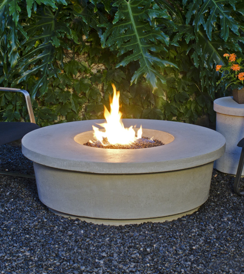 Contempo Round Firetable Las Vegas Outdoor Kitchen