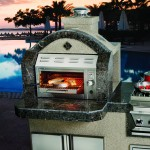 Barbecue Island with Salaman Grill, Synthetic Stucco, Granite Tile