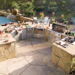 Alfresco Natural Stone Barbecue Island