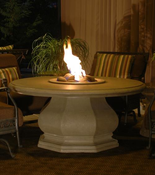 Chat Height Octagon Firetable Las Vegas Outdoor Kitchen